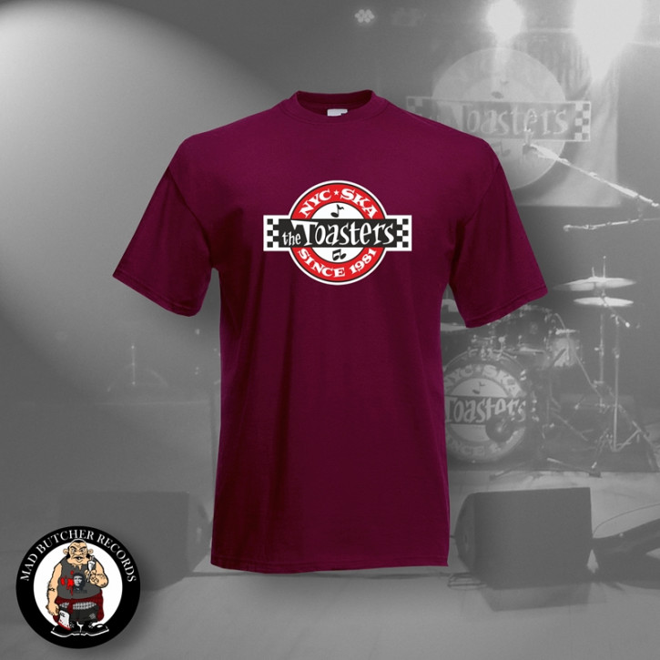 THE TOASTERS UNDERGROUND T-SHIRT M / BORDEAUX ROT