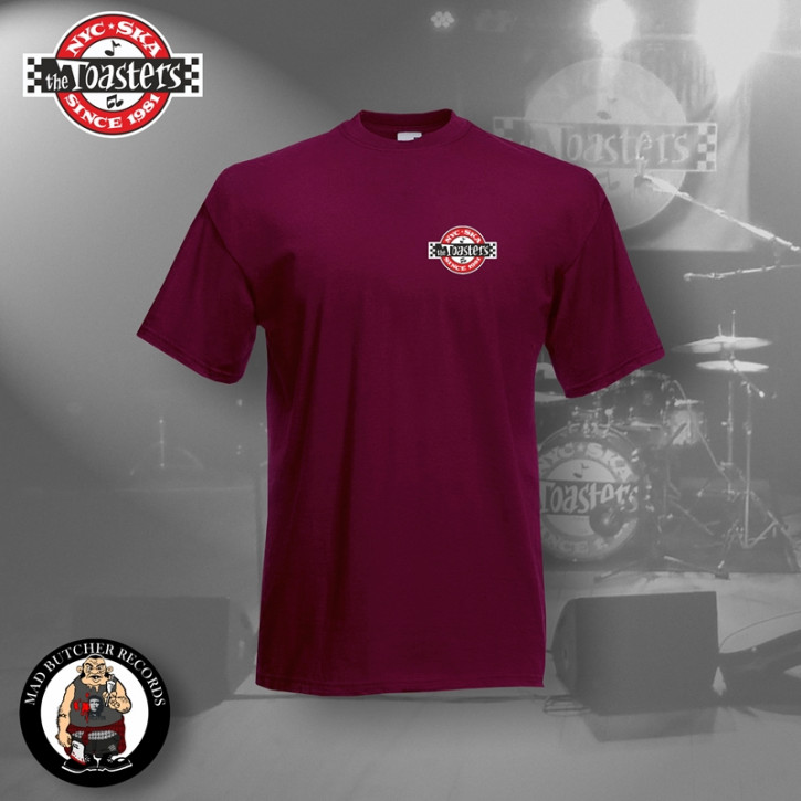 THE TOASTERS UNDERGROUND SMALL T-SHIRT S / BORDEAUX ROT