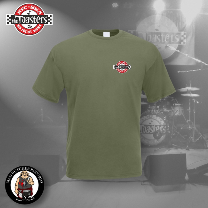 THE TOASTERS UNDERGROUND SMALL T-SHIRT L / OLIVE