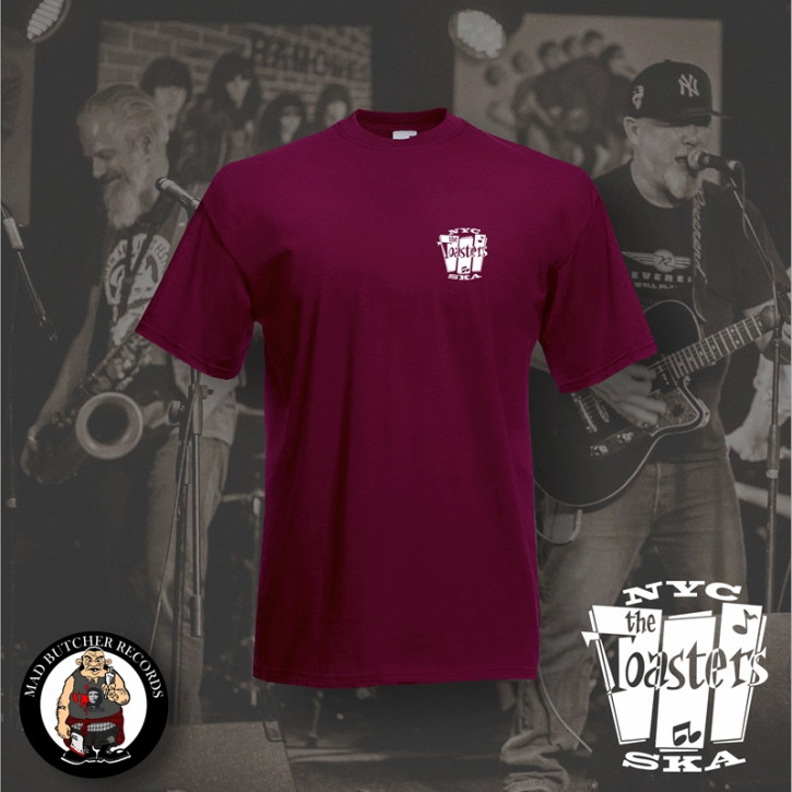 THE TOASTERS NYC SKA SMALL T-SHIRT XL / BORDEAUX ROT