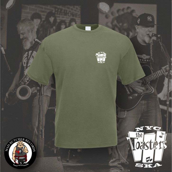 THE TOASTERS NYC SKA SMALL T-SHIRT M / OLIVE