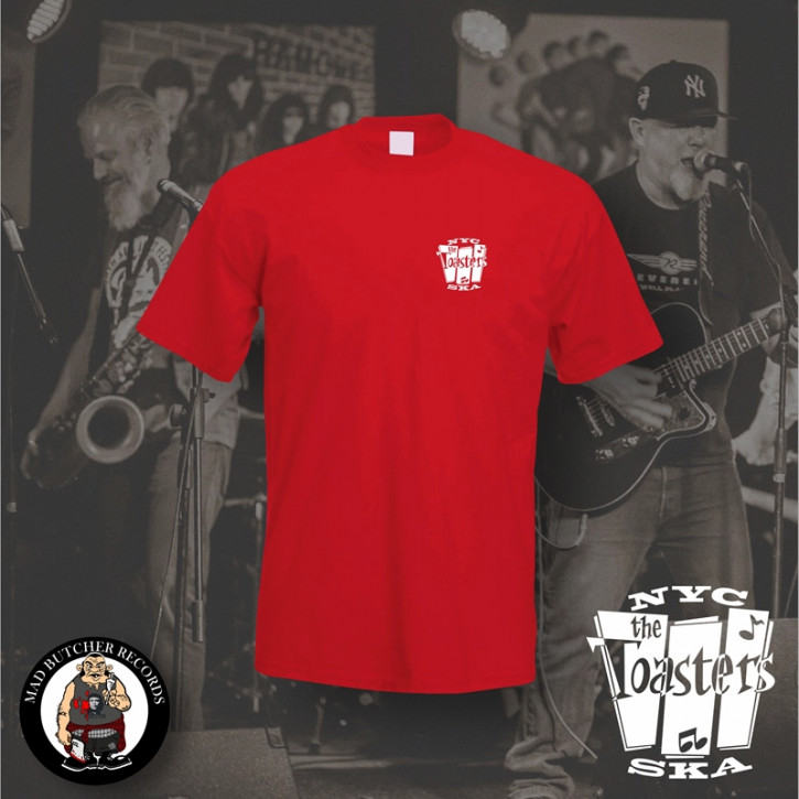 THE TOASTERS NYC SKA SMALL T-SHIRT M / ROT