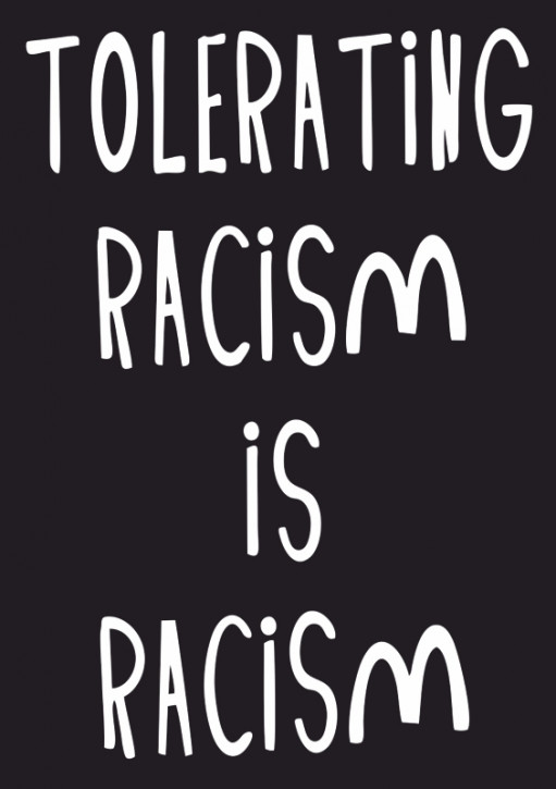TOLERATING RACISM AUFKLEBER (10 Stück)