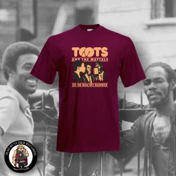 TOOTS & THE MAYTALS 54-46 WAS MY NUMBER T-SHIRT S / BORDEAUX ROT