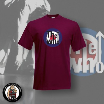 THE WHO TARGET T-SHIRT S / BORDEAUX ROT