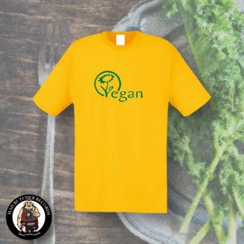 VEGAN FLOWER T-SHIRT XL / yellow