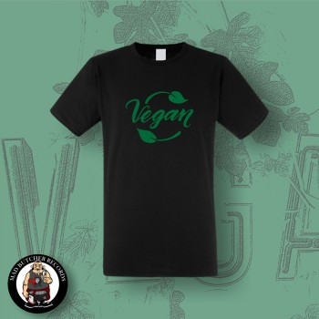 VEGAN LEAF T-SHIRT Black / M