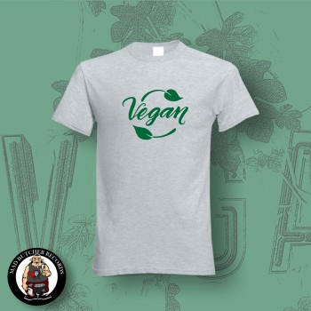 VEGAN LEAF T-SHIRT XL / grey