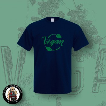 VEGAN LEAF T-SHIRT XL / navy