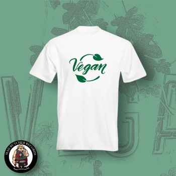 VEGAN LEAF T-SHIRT XL / White