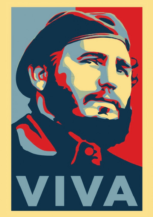 VIVA FIDEL STICKER (10 units)