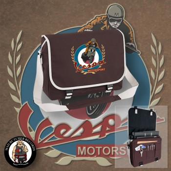 VESPA MOTORSPORT VINTAGE MESSENGER BAG brown