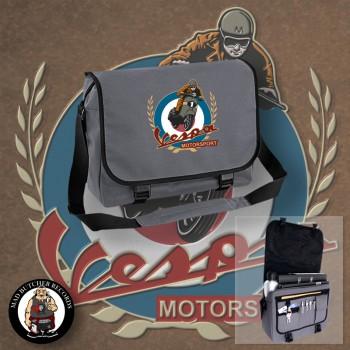 VESPA MOTORSPORT VINTAGE MESSENGER BAG grey