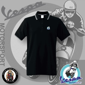 VESPA MOTORSPORT POLO Black / XL