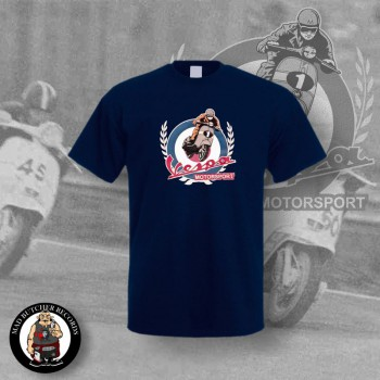 VESPA MOTORSPORT VINTAGE T-SHIRT 3XL / NAVY