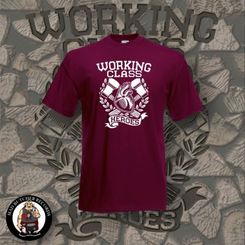 WORKING CLASS HEROES T-SHIRT M / BORDEAUX RED