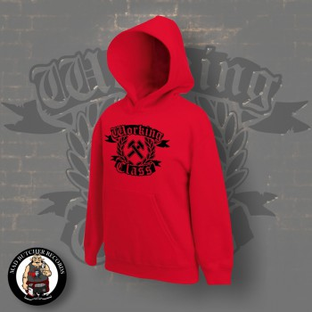 WORKING CLASS HAMMERS HOOD L / red