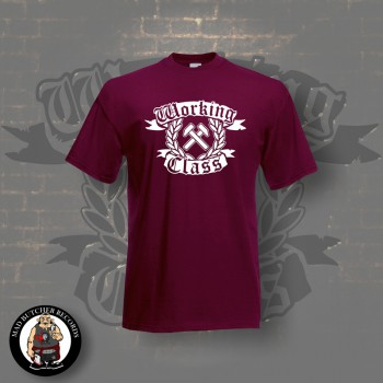 WORKING CLASS HAMMERS T-SHIRT S / BORDEAUX ROT
