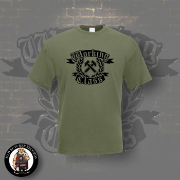 WORKING CLASS HAMMERS T-SHIRT L / OLIVE