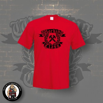 WORKING CLASS HAMMERS T-SHIRT S / ROT