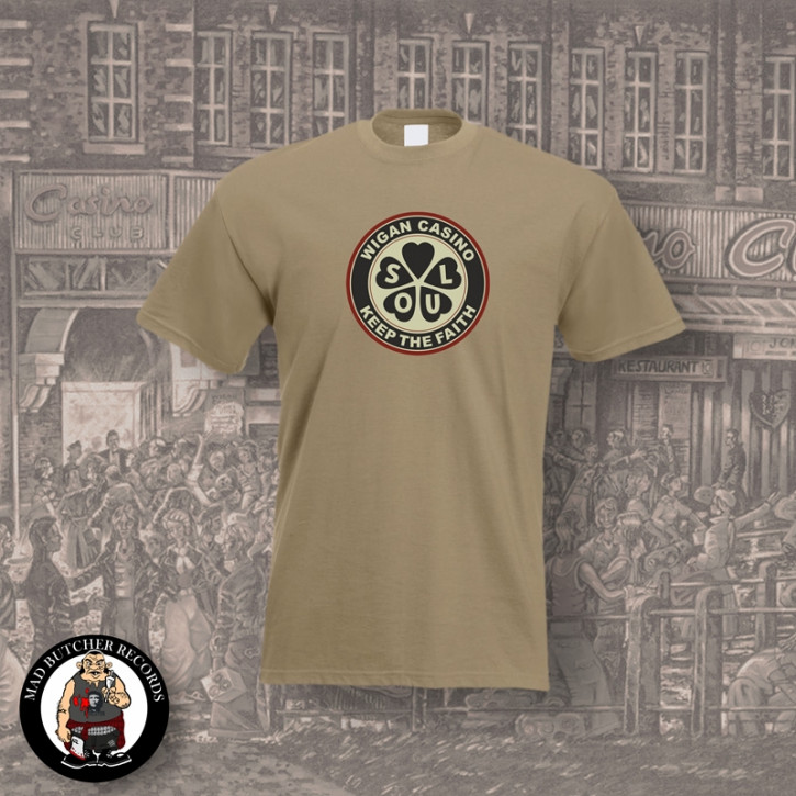 WIGAN CASINO T-SHIRT XL / BEIGE