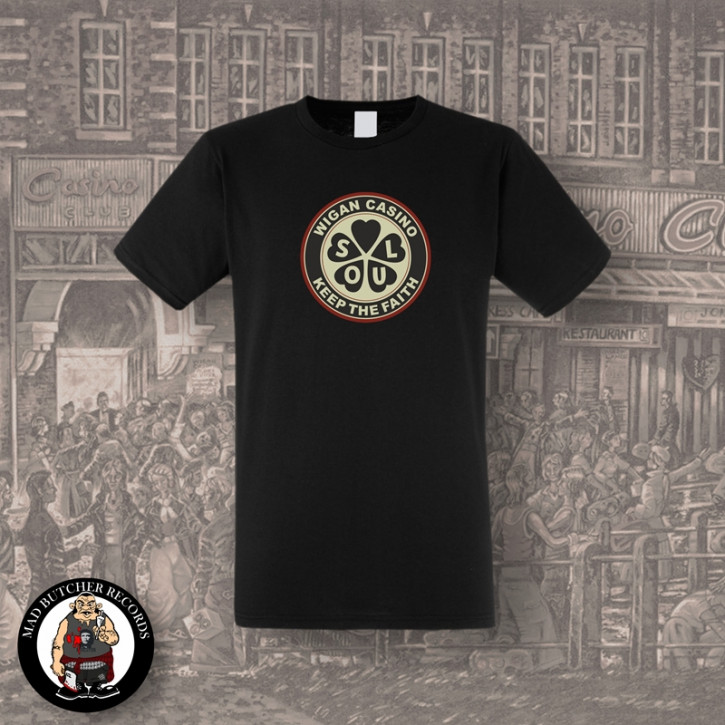 WIGAN CASINO T-SHIRT SCHWARZ / M