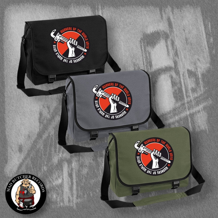 WORKERS OF THE WORLD UNITE MESSENGER BAG