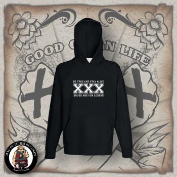 STRAIGHT EDGE HOOD Black / XL