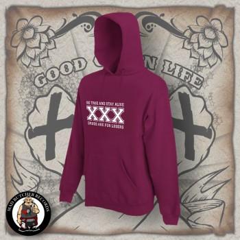 STRAIGHT EDGE HOOD XL / BORDEAUX RED