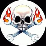 PUNKROCK - Skull/Flames