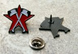 RED STAR/AXES Pin