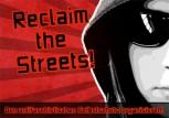 RECLAIM THE STREETS AUFKLEBER (10 STÜCK)