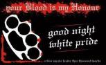 GOOD NIGHT WHITE PRIDE STICKER (10 STÜCK)