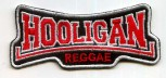 HOOLIGAN REGGAE PATCH red