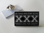 STRAIGHT EDGE BE TRUE PIN