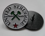 UNITED STRUGGLE HAMMERS PIN