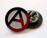 RED/BLACK ANARCHY PIN