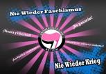 NIE WIEDER FASCHISMUS STICKER (10 STÜCK)