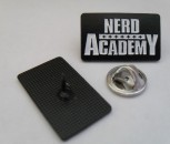 NERD ACADEMY OLD LOGO BLACK PIN