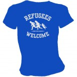REFUGEES WELCOME GIRLIE BLAU