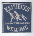 REFUGEES WELCOME WHITE PATCH