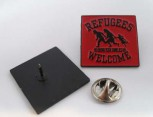 REFUGEES WELCOME RED PIN