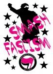 SMASH FASCISM AUFKLEBER PINK (10 STÜCK)