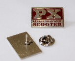 PX BETTER THAN YOUR SCOOTER (VESPA) PIN RED