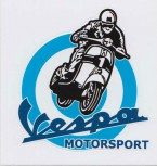 VESPA MOTORSPORT PVC AUFKLEBER