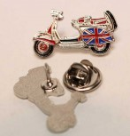 VESPA BRITISH SCOOTER SHAPE PIN