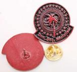 SUN,SEA,SOCIALISM RED PIN