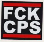 FCK CPS PVC AUFKLEBER