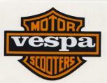 VESPA MOTOR SCOOTER PVC AUFKLEBER