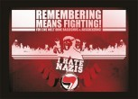 REMEMBERING MEANS FIGHTING AUFKLEBER ( 10 Stück)